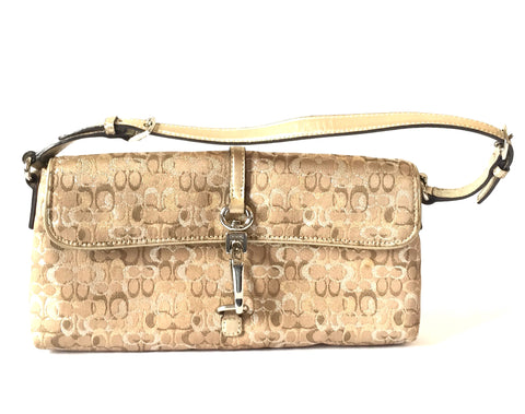 Coach Beige & Gold Small Shoulder Bag | Gently Used |