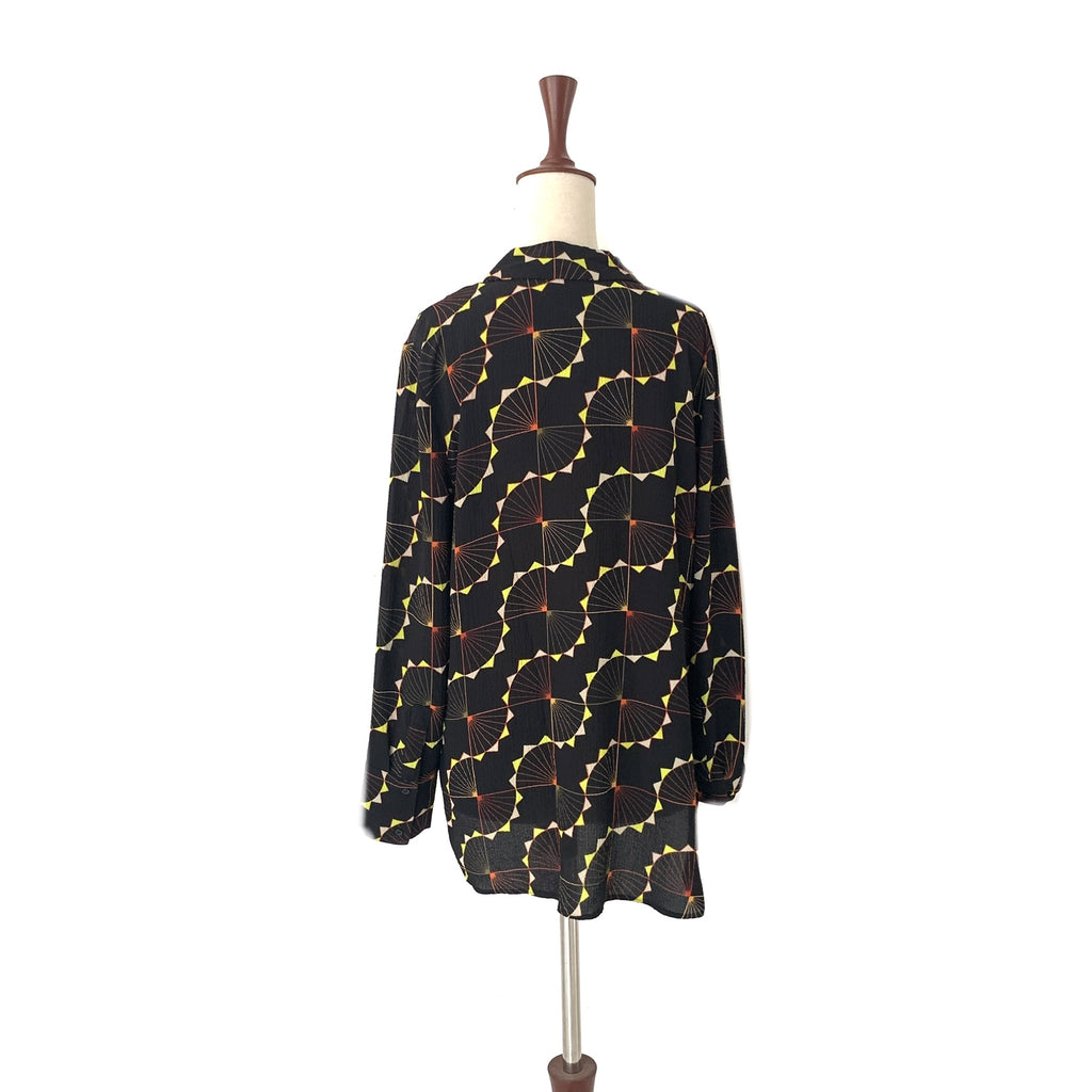 NEXT Black Printed Collared Shirt | Gently Used |