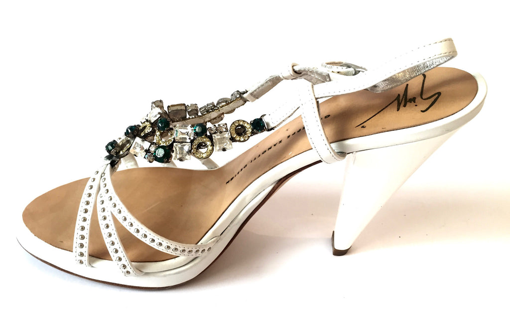 Giuseppe Zanotti Crystal Embellished Heels | Gently Used | - Secret Stash