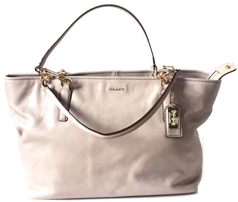 Coach Grey Pebbled Leather Tote | Gently Used |