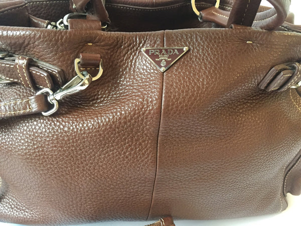 Prada Leather Shoulder Bag | Pre Loved | - Secret Stash