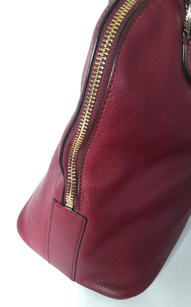 DKNY Maroon Pebbled Leather Tote | Gently Used |