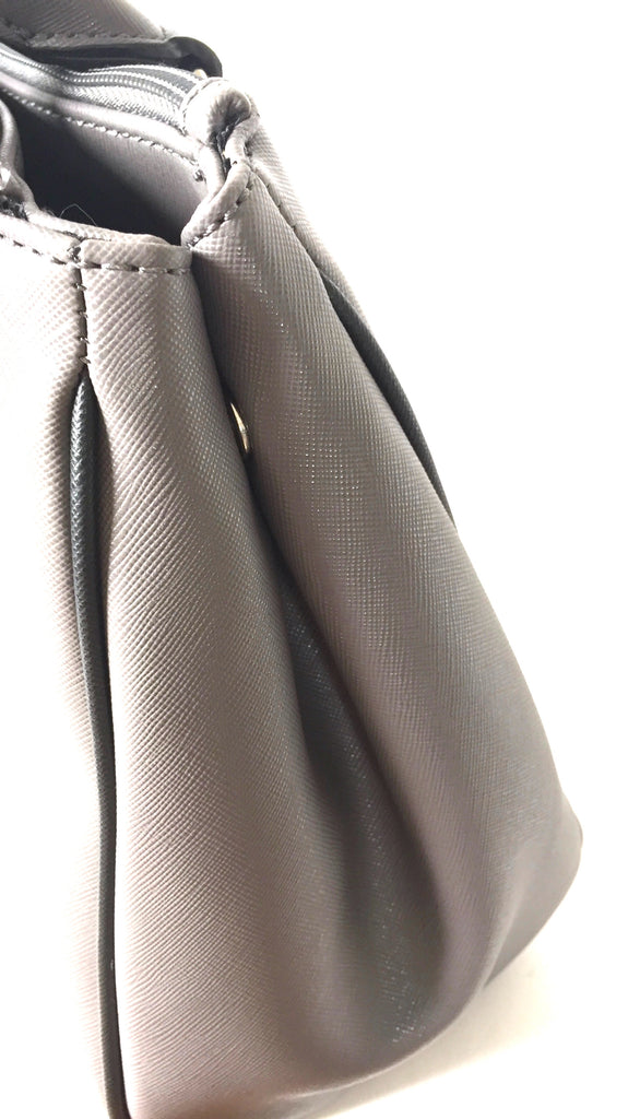 Nine West Grey Double Zip Satchel | Brand New |