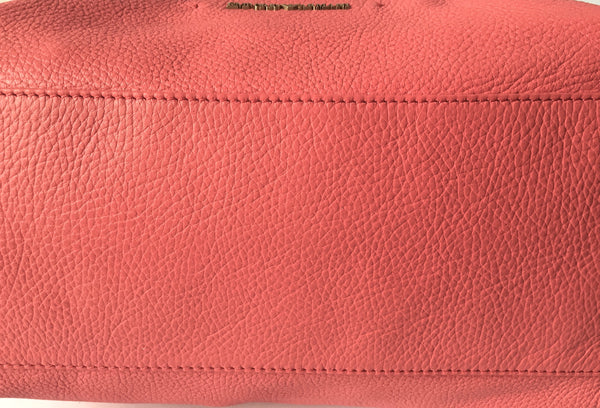 Emporio Armani Pink Pebbled Leather Tote | Gently Used | - Secret Stash