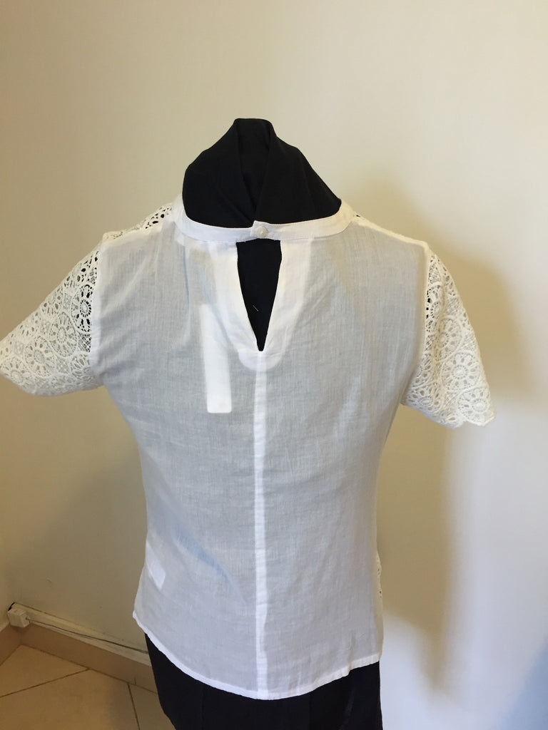 Red Herring at Debenhams White Lace Top | Brand New | - Secret Stash