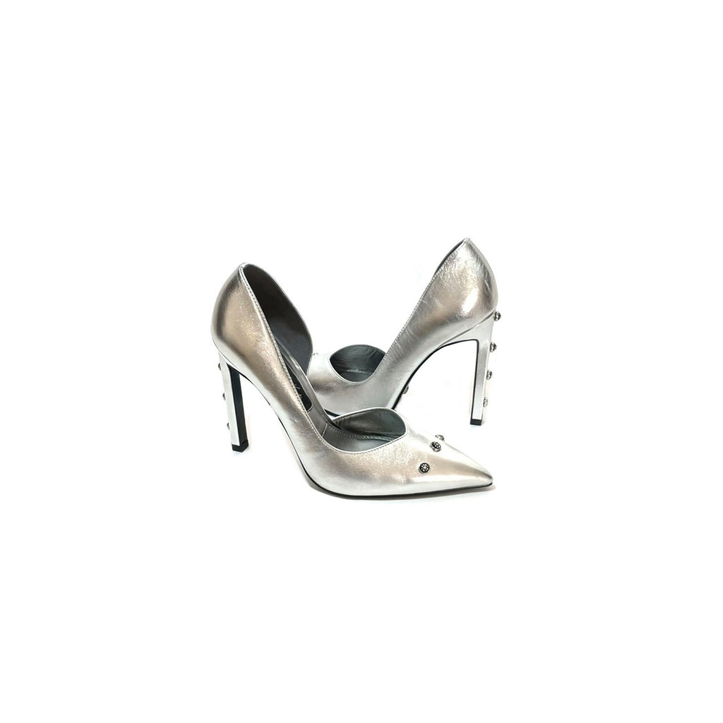 Charles & Keith Silver Pointed Pumps | Gently Used |