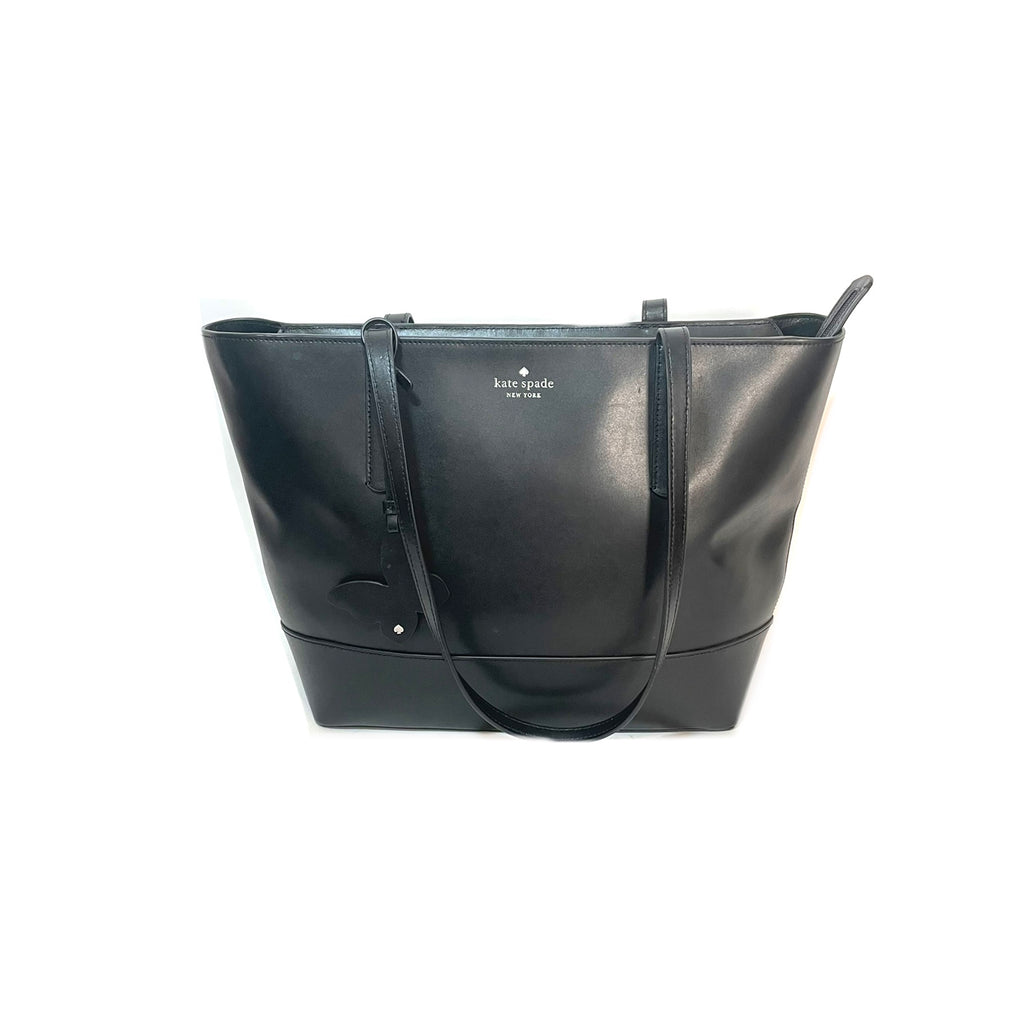 Kate Spade Black Leather 'Adley' Tote | Gently Used |