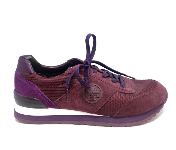 Tory Burch Maroon Suede Sneakers | Gently Used |
