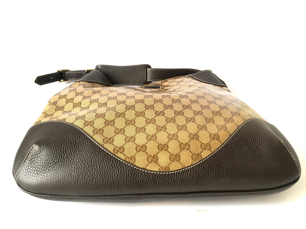 Gucci 'GG Guccissima' Coated Canvas & Leather Shoulder Bag | Gently Used | - Secret Stash