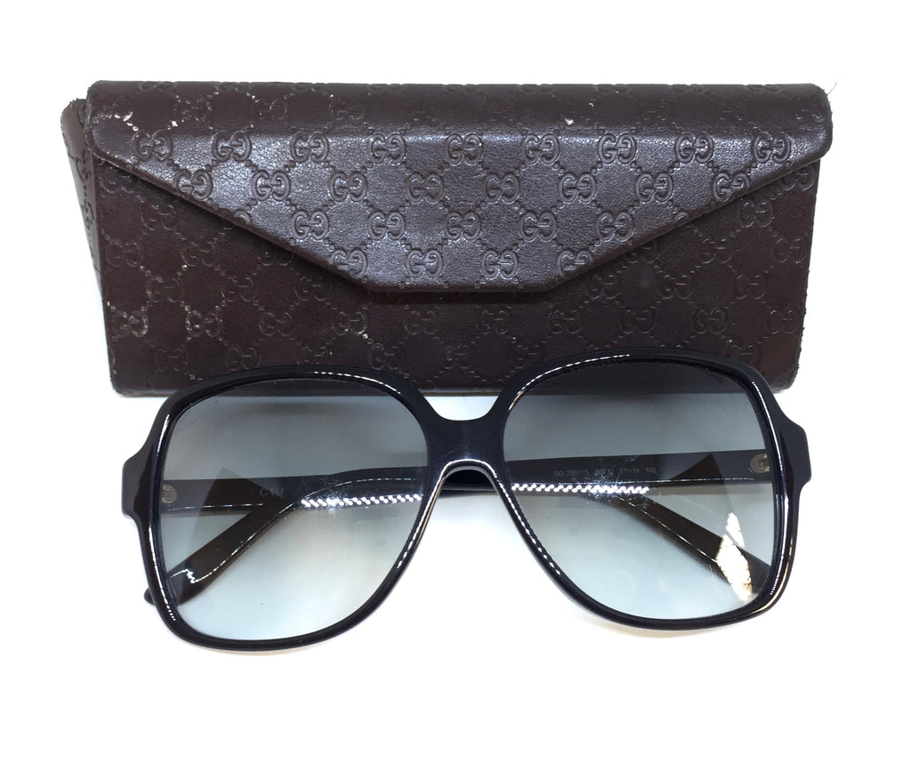 Gucci GG3582/S Black Square Sunglasses | Pre Loved |