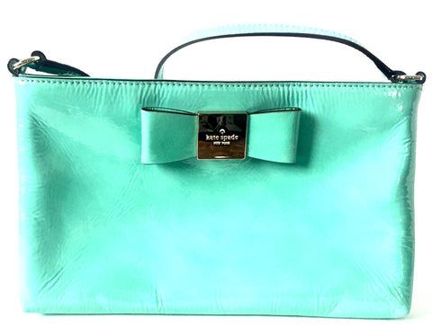 Kate Spade Mint Green Patent Leather Cross Body Bag | Gently Used |