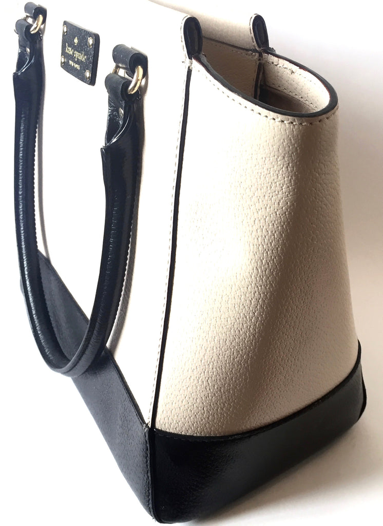 Kate Spade Black & Beige Leather Tote | Gently Used |