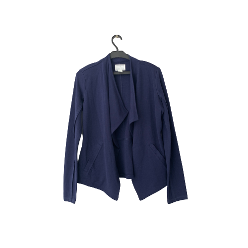 Caslon Navy Open Front Sweater