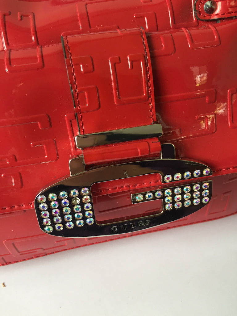 Guess Red Patent Tote | Pre Loved | - Secret Stash