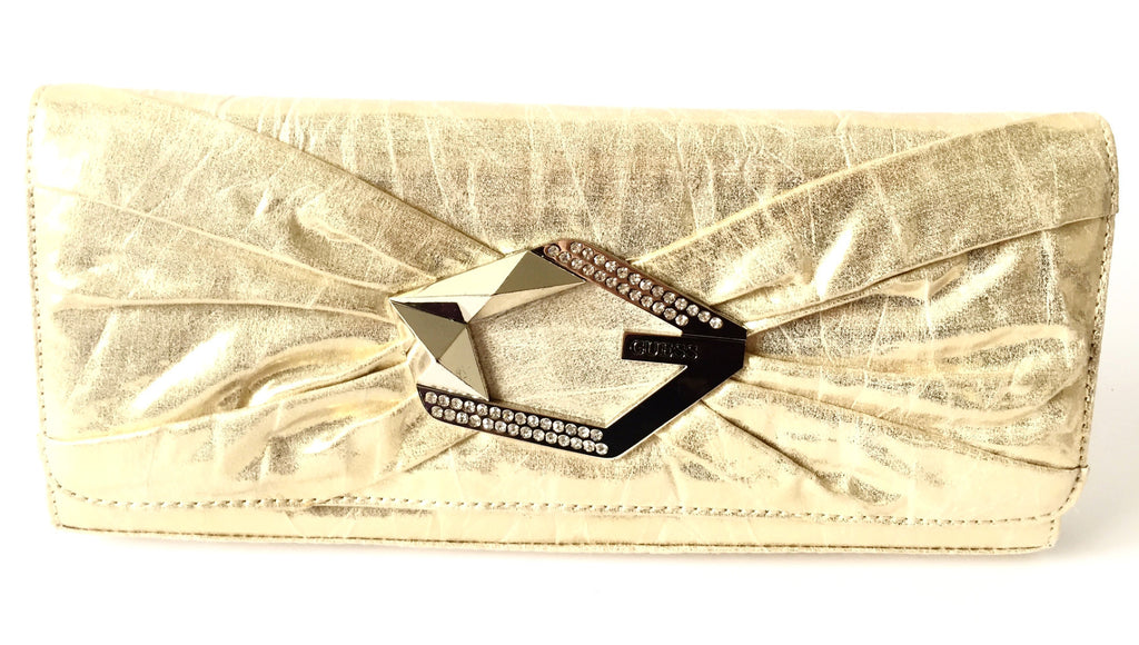 Guess Gold Clutch with Rhinestones | Gently Used | - Secret Stash