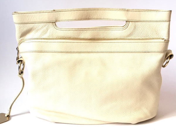 Furla White Leather Tote Bag | Gently Used | - Secret Stash