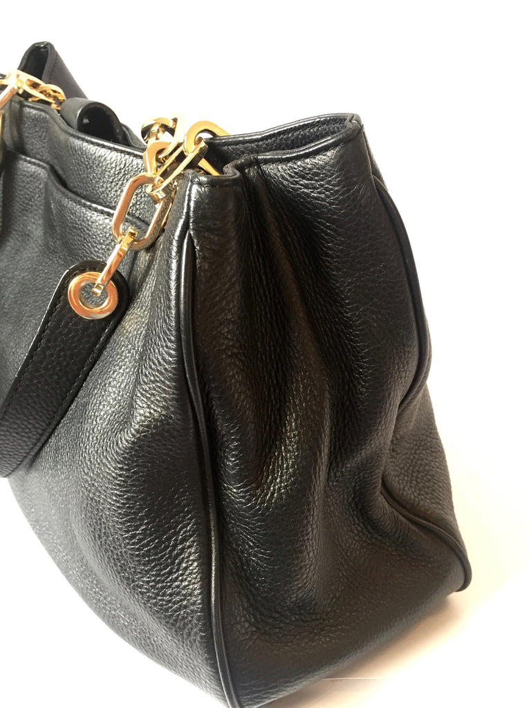 Michael Kors Black Pebbled Leather Shoulder Bag | Gently Used | - Secret Stash