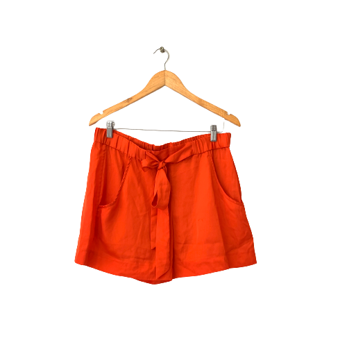 French Connection Orange Silk Shorts