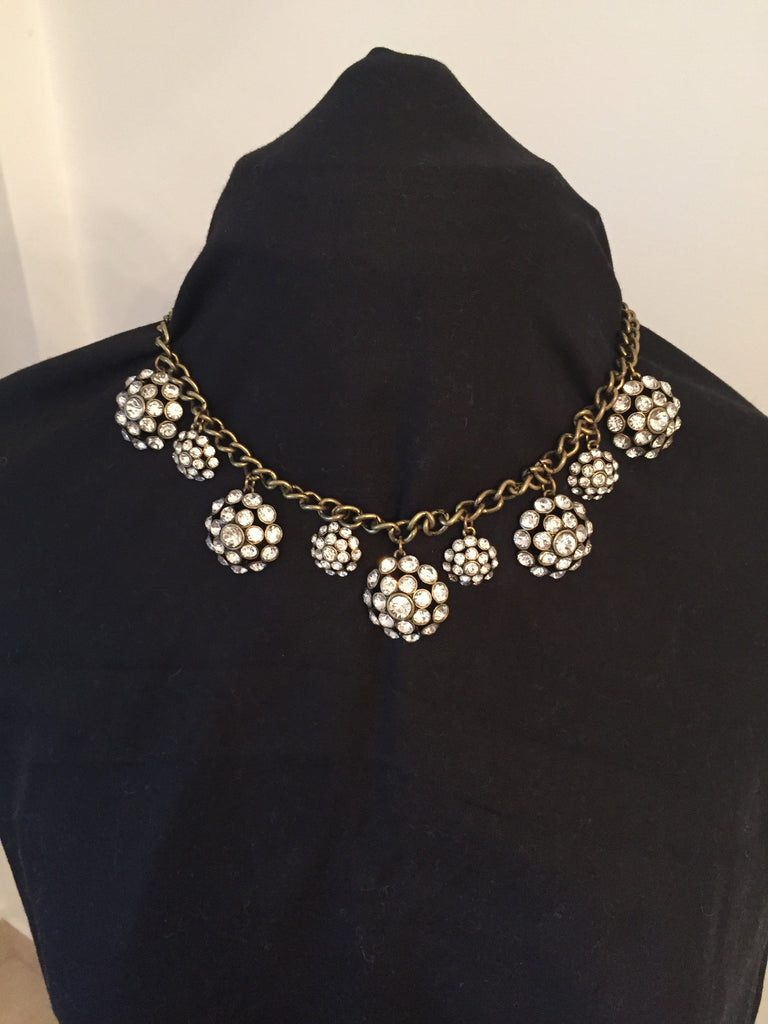 DSW Diamante Drop Flowers Statement Necklace | Brand New | - Secret Stash