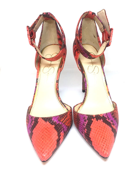 Jessica Simpson D'ORSAY Pink Snakeskin Print Pumps | Brand New |