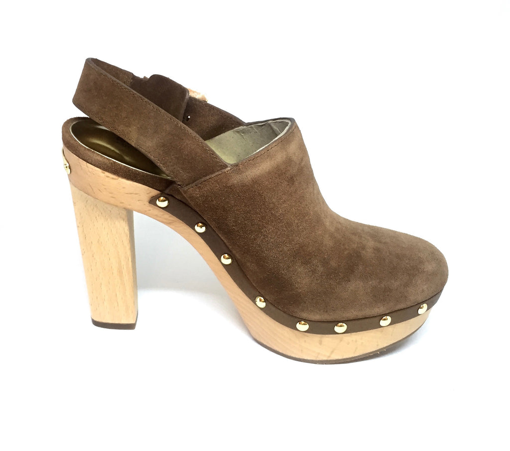 Michael Kors 'Beatrice' Sling Suede Clogs | Brand New |