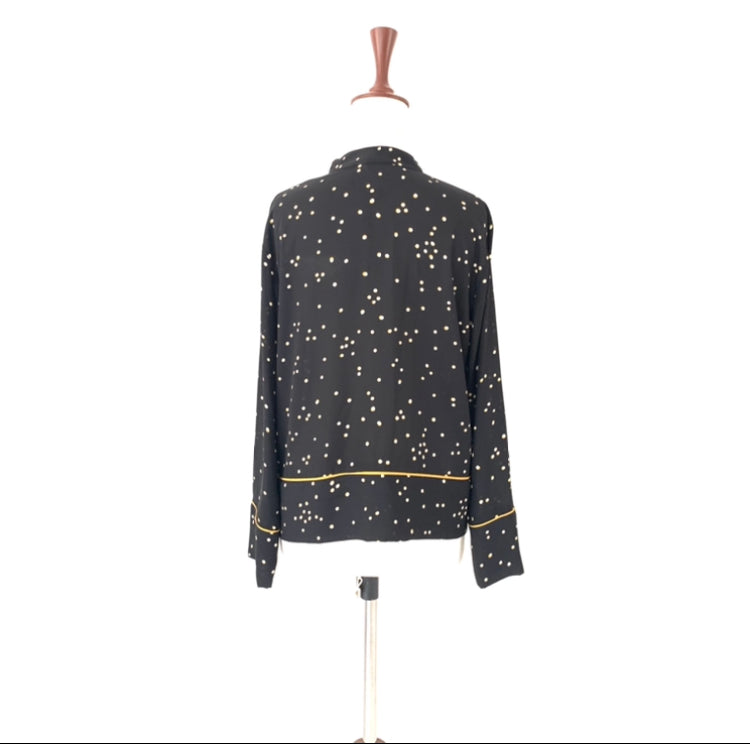 H&M Black Polka Dot Shirt | Gently Used |