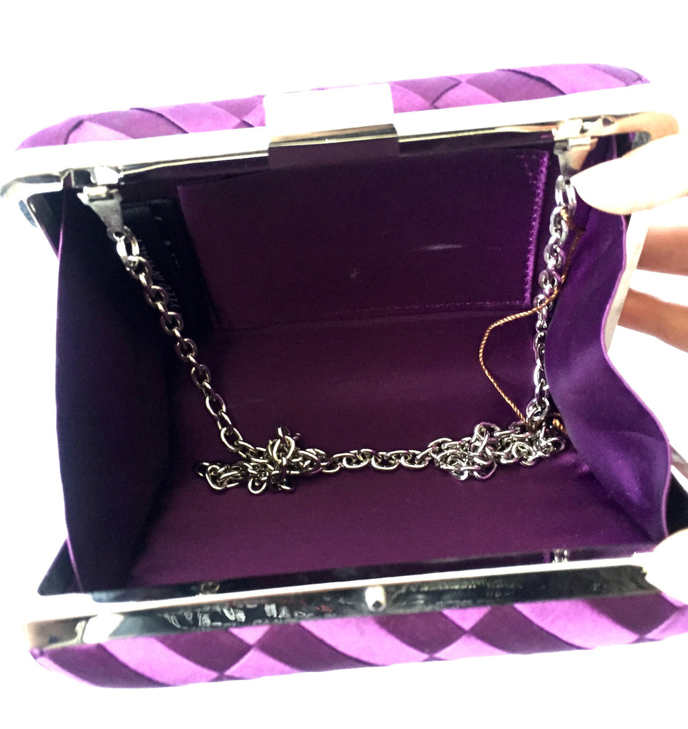 COCCINELLE Purple Box Clutch | Like New | - Secret Stash