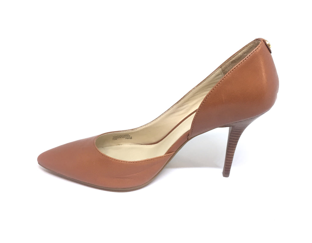 Michael Kors 'Nathalie' Leather Tan Pumps  | Brand New |