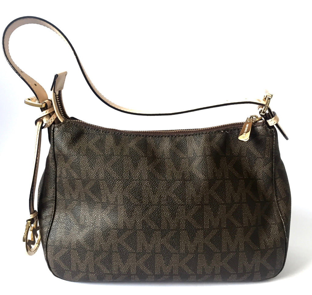 MICHAEL Michael Kors Signature Logo Shoulder Bag | Gently Used | - Secret Stash