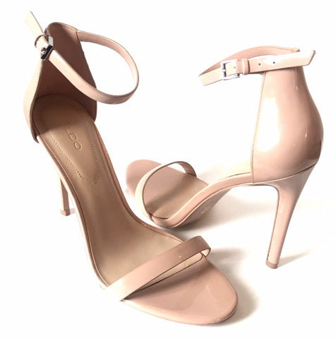 ALDO Blush Pink D'ORSAY Patent Leather Heels | Like New |