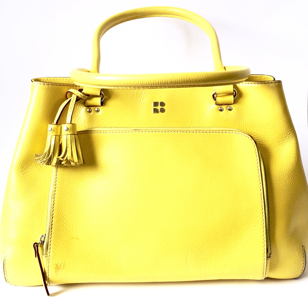 Kate Spade Yellow Leather Large Tote Bag | Pre Loved | - Secret Stash