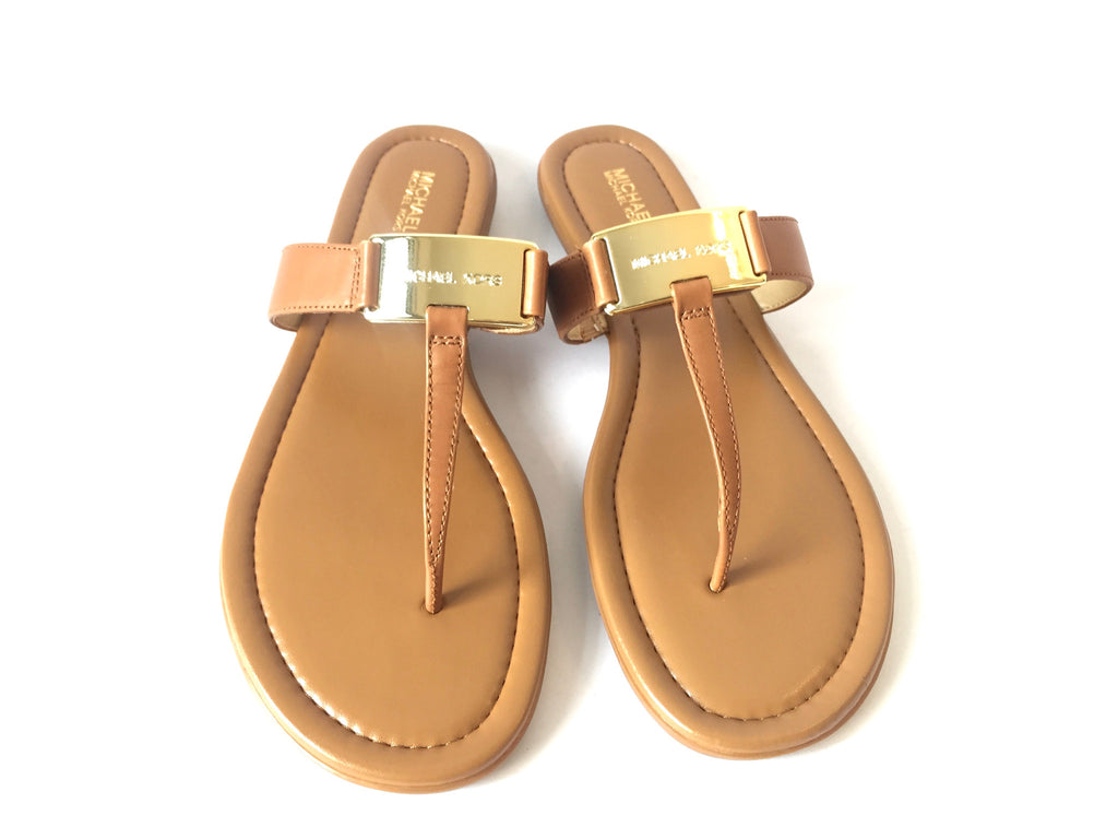 MICHAEL Michael Kors 'Colleen' Thong Leather Sandals | Brand New | - Secret Stash
