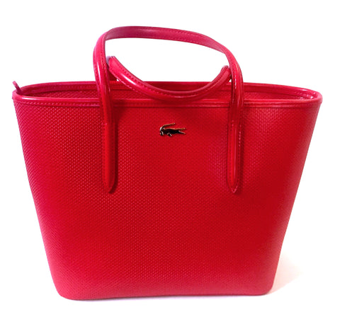 Lacoste 'CHANTACO ZIPPERED PIQUÉ' Leather Tote Bag | Brand New |