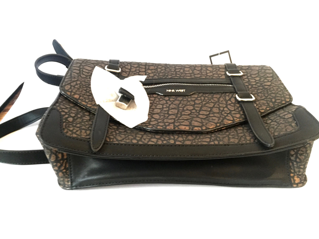 Nine West 'Lock Up' Textured Satchel | Brand New |