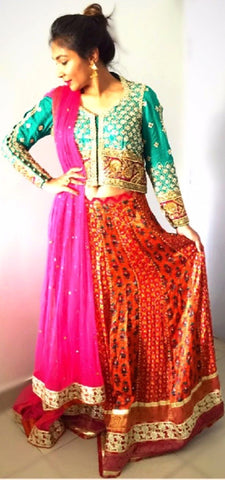 Farah Talib Aziz Traditional Lehenga Choli Outfit | Gently Used | - Secret Stash