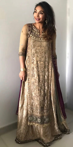 Asifa & Nabeel Bridal Sharara | Gently Used | - Secret Stash