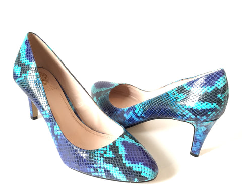 Vince Camuto Snakeskin Leather Printed Pumps | Brand New |