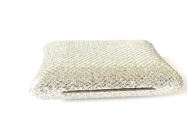 GUESS Silver Evening Clutch | Gently Used |