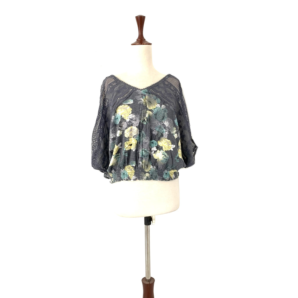 NEXT Grey Printed Floral Top | Gently Used |