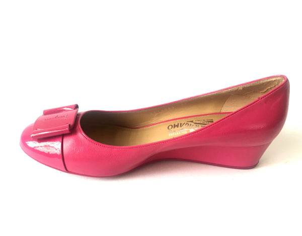 Salvatore Ferragamo Fuchsia Pink Wedges | Brand New | - Secret Stash