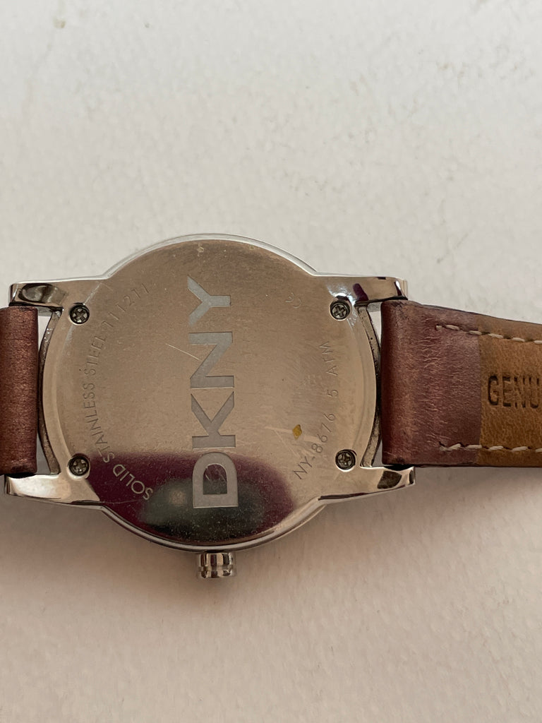 DKNY NY8676 Rhinestone Leather Watch | Gently Used |