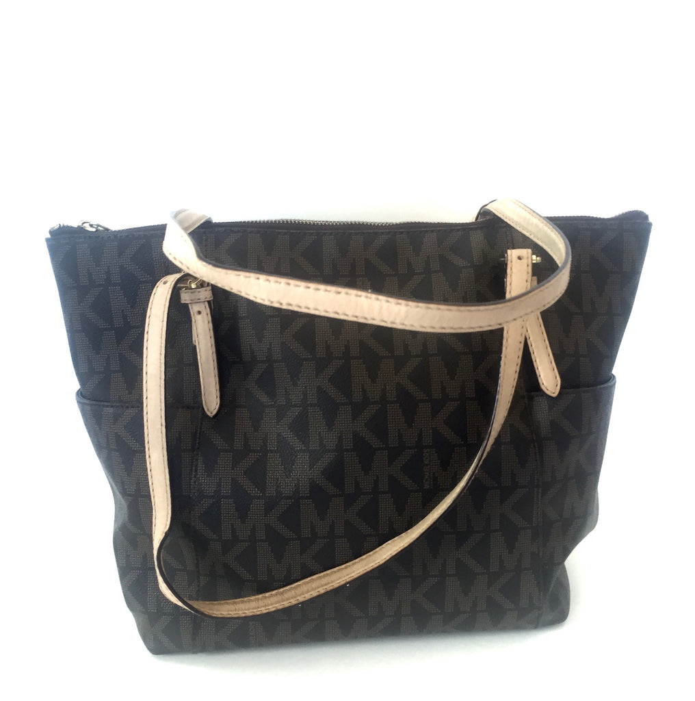 Michael Kors Signature Monogram Tote Bag | Pre Loved | - Secret Stash