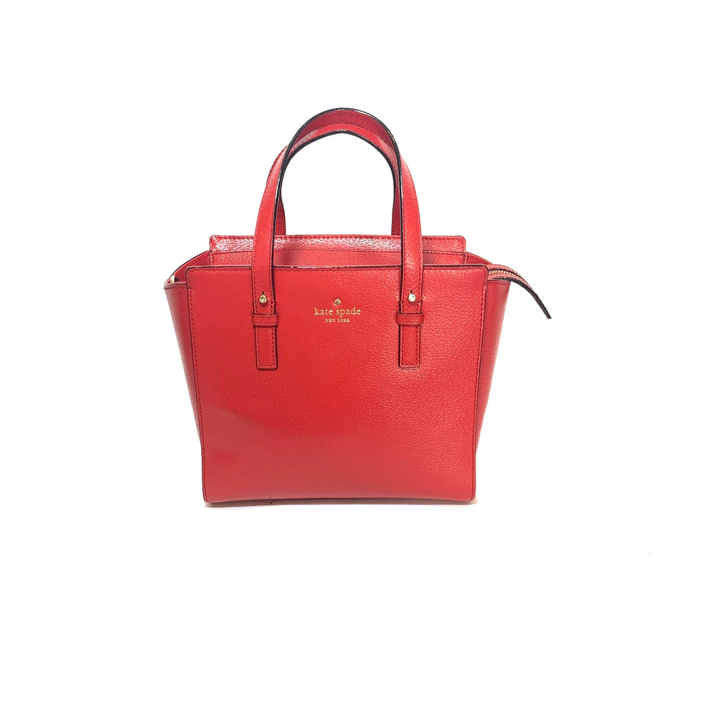 Kate Spade Red Leather Satchel | Gently Used |