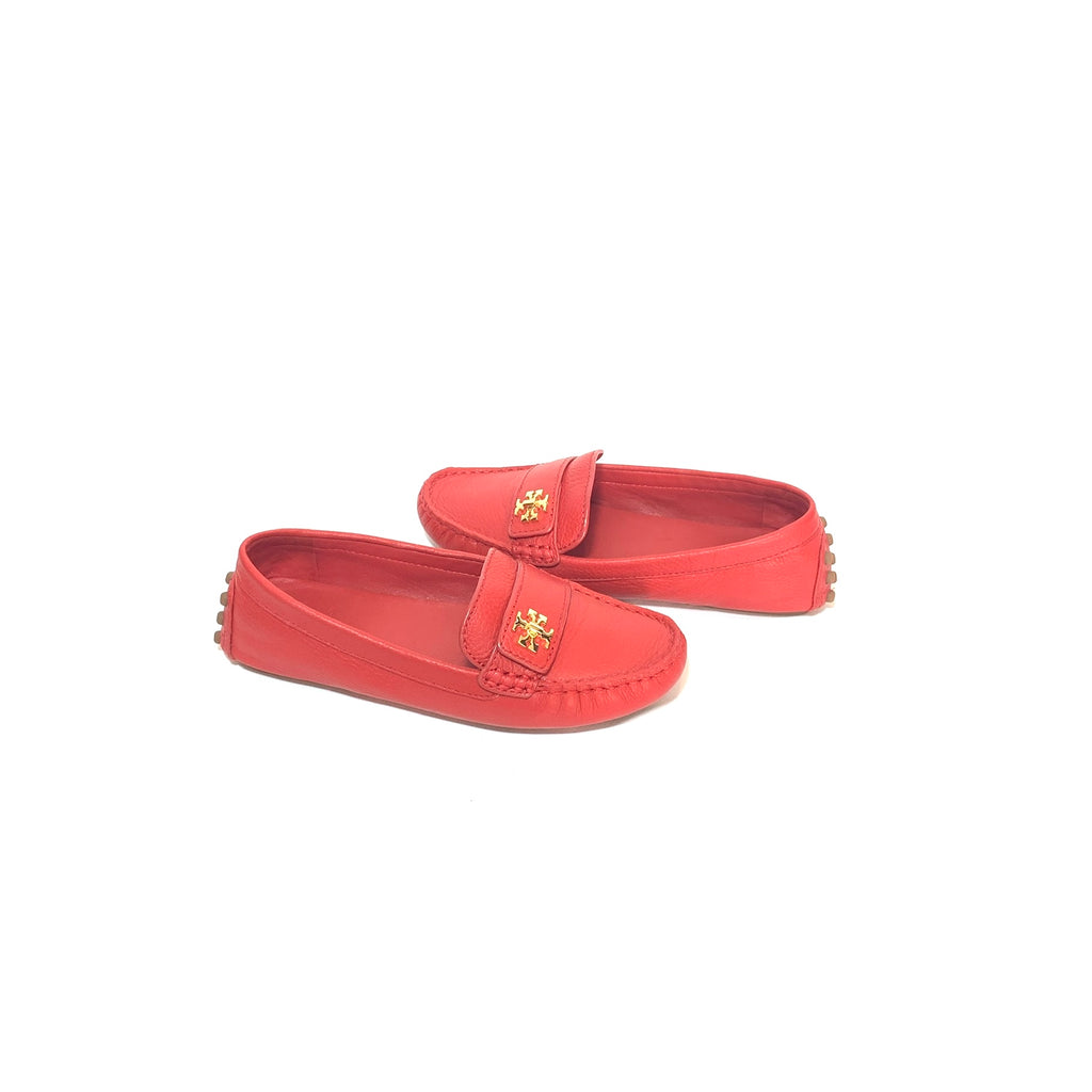Tory Burch Red Leather KIRA Driving Loafers | Gently Used |