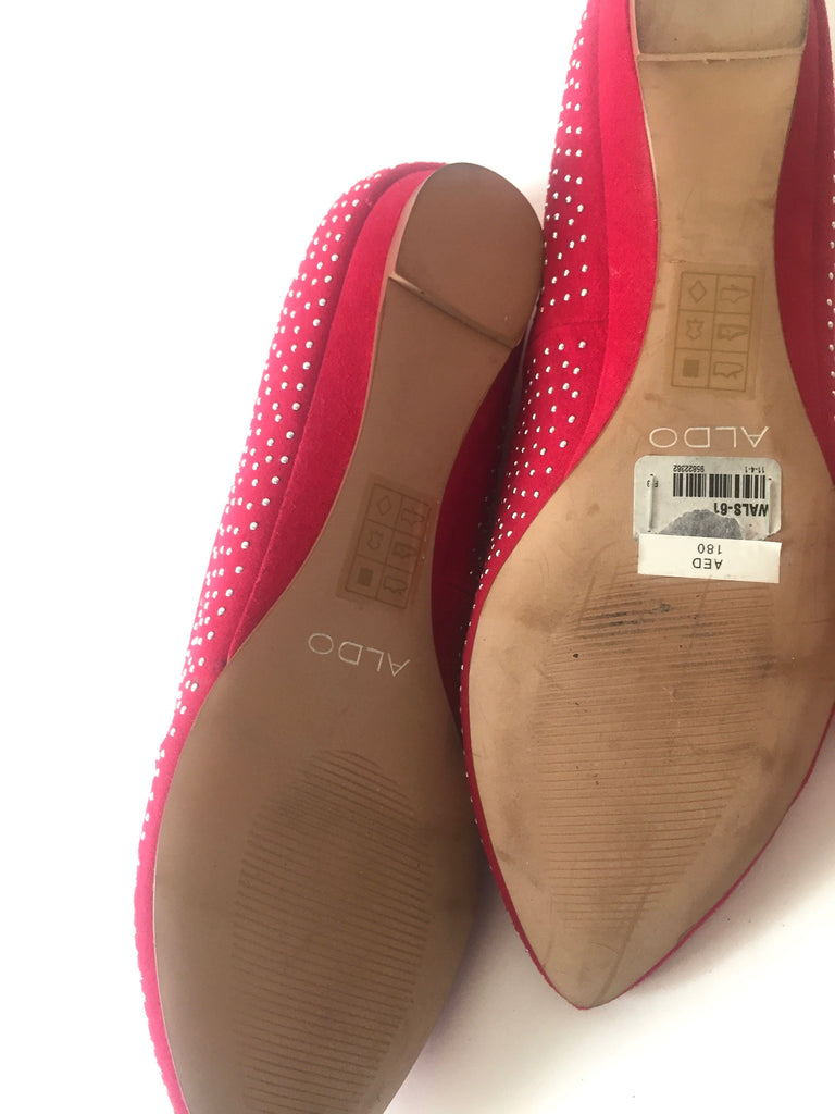 ALDO SHOES Red & Silver Ballet Flats | Brand New | - Secret Stash