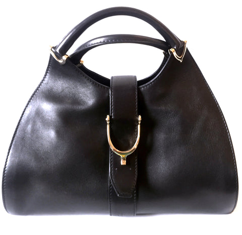 Gucci Black Leather Tote Bag | Gently Used |