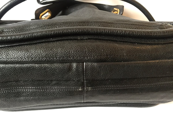 Chloe Black Pebbled Leather Bag | Gently Used |