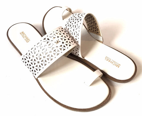 MICHAEL Michael Kors White Leather Sandals | Gently Used |