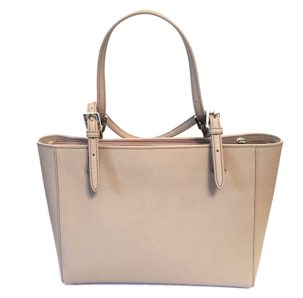 Tory Burch Grey Leather 'York' Buckle Tote Bag | Like New | - Secret Stash