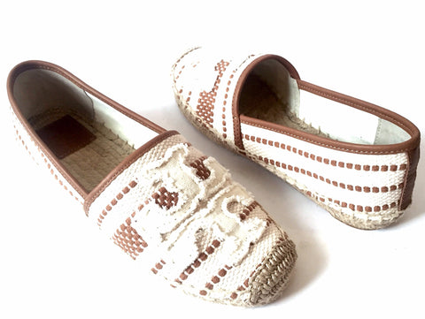 Tory Burch Shaw Canvas Espadrilles | Brand New |